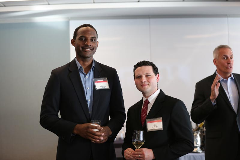 As part of GBLI, Kris Klemons (left), Corporate Counsel at Amazon, is a professional mentor to Natan Tubman, a GBLI Fellow
