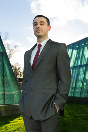 Photo of Harlan Mechling, a graduate student in the UW School of Law