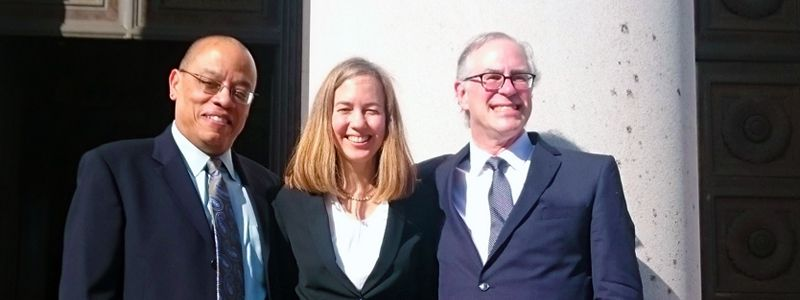 Photograph of Lila Silverstein with other attorneys.