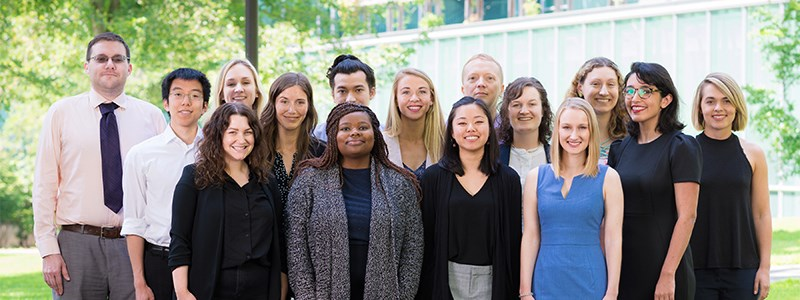 The 2019 PILA Fellows pose outside William H. Gates Hall.